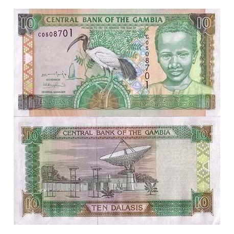 Gambia - Pk Nr. 21-10 Cedis Hinweis