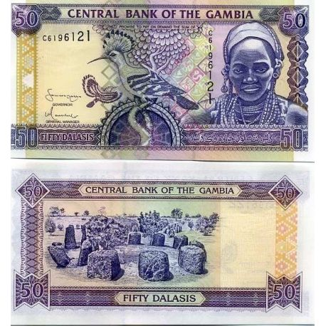 Billets de collection Billets de banque Gambie Pk N° 23 - 50 Dalasis Billets de Gambie 10,00 €