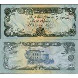 Billets de banque Afghanistan Pk N° 57 - 50 Afghanis