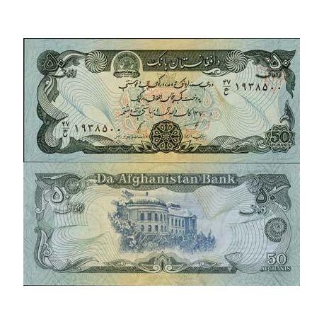 Billets de collection Billets de banque Afghanistan Pk N° 57 - 50 Afghanis Billets d'Afghanistan 2,00 €