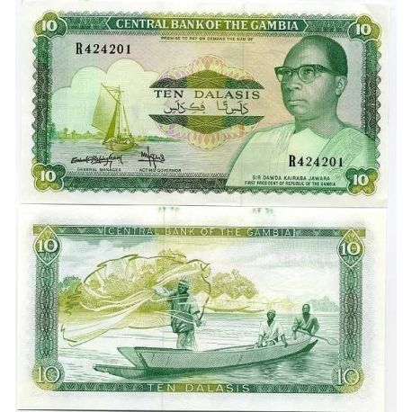 Gambia - Pk Nr. 10 - 10 Dalasis ticket