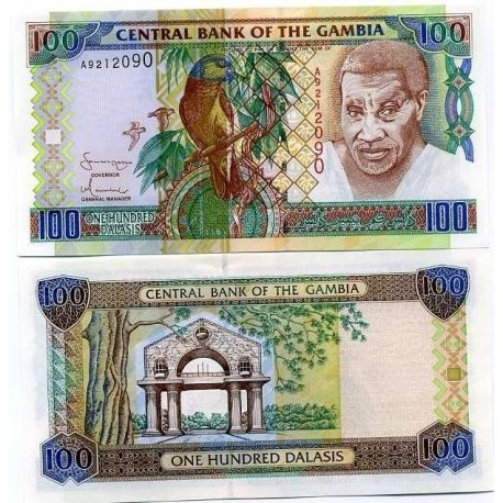 Billets de banque Gambie Pk N° 24 - 100 Dalasis