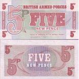 Billet de banque Gb Armee Pk N° 47 - 5 New Pence