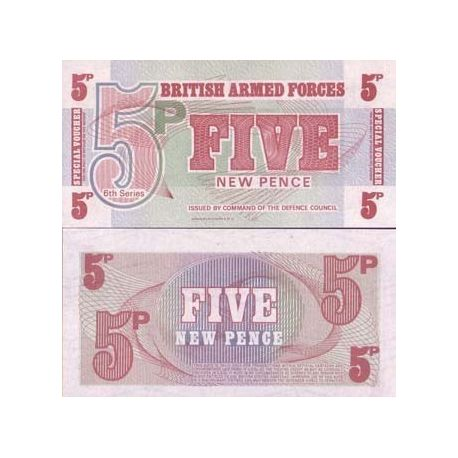 Gb Armee - Pk N° 47 - Billet de 5 New Pence