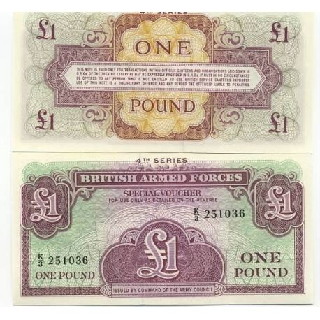 Gb Armee - Pk N° 36 - Billet de 1 Pound