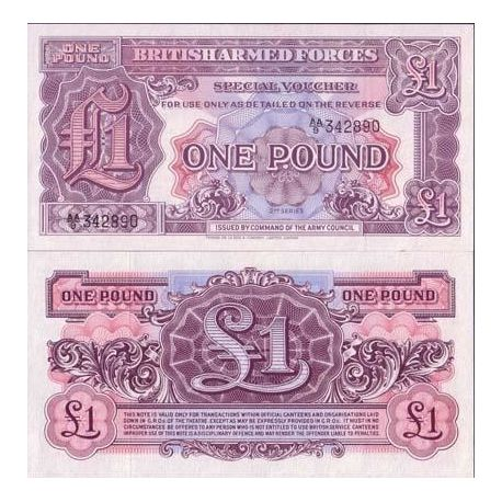 Billets de banque Gb Armee Pk N° 22 - 1 Pound