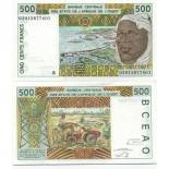 Schone Banknote Benin Pick Nummer 210 - 500 FRANC 1991
