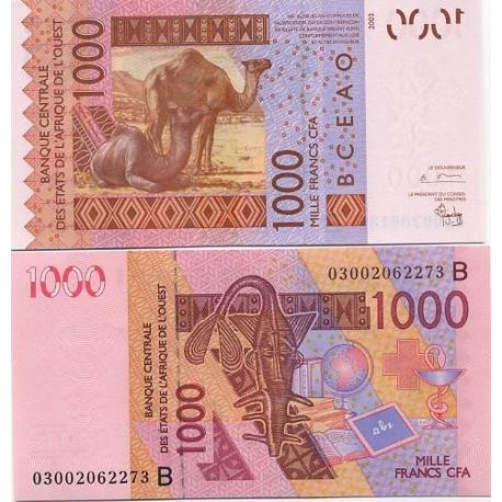 West Africa BENIN - Pk # 215 - ticket 1000
