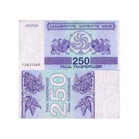 Billets de collection Billet de banque Georgie Pk N° 43 - 250 Laris Billets de Georgie 2,50 €