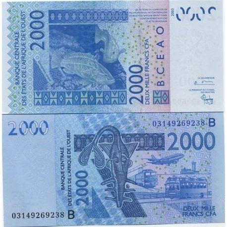 Afrique De L'ouest BENIN - Pk N° 216 - Billet de 2000 Francs