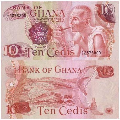 Billets de banque Ghana Pk N° 16 - 10 Cedis