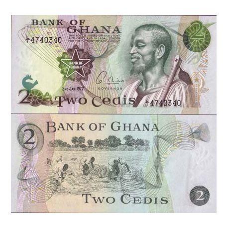 Billets de collection Billets collection Ghana Pk N° 14 - 2 Cedis Billets du Ghana 9,00 €