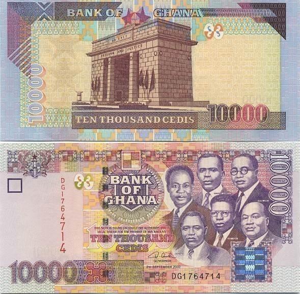 GHANA 10,000 10000 CEDIS 2002 P 35 UNC