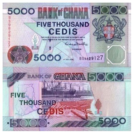 Billets de collection Billet de collection Ghana Pk N° 31 - 5000 Cedis Billets du Ghana 28,00 €