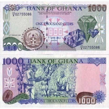 Billets banque Ghana Pk N° 29 - 1000 Cedis