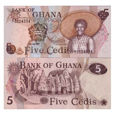 Billets collection Ghana Pk N° 15 - 5 Cedis
