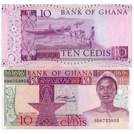 Billet de banque Ghana Pk N° 20 - 10 Cedis
