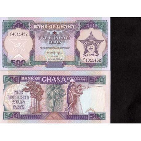 Ghana - Pk N° 28 - Billet de 500 Cedis