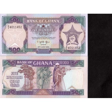 Billets de collection Billet de collection Ghana Pk N° 28 - 500 Cedis Billets du Ghana 10,00 €