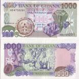 Collection of Banknote Ghana Pick number 32 - 1000 Cedi 1996
