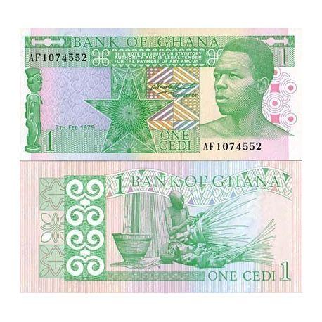 Billet de banque Ghana Pk N° 17 - 1 Cedi