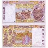 Billet de banque Afrique De L'ouest Cote D'ivoire Pk N° 111 - 1000 Francs