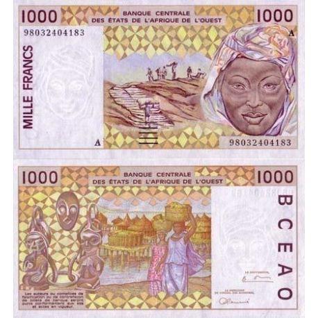 Afrique De L'ouest Cote D'ivoire - Pk N° 111 - Billet de 1000 Francs