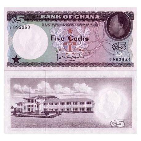 Billets banque Ghana Pk N° 6 - 5 Cedis