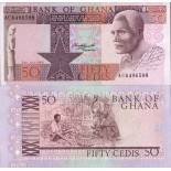 Collection of Banknote Ghana Pick number 22 - 50 Cedi 1979
