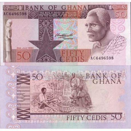 Billets de collection Billet de collection Ghana Pk N° 22 - 50 Cedis Billets du Ghana 3,50 €