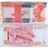 Collezione banconote Ghana Pick numero 19 - 5 Cedi 1979