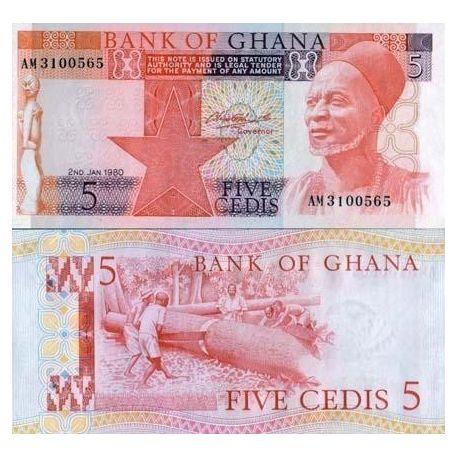 Billets banque Ghana Pk N° 19 - 5 Cedis