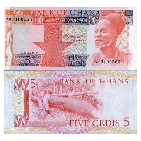 Ghana - Pk N° 19 - Billet de 5 Cedis