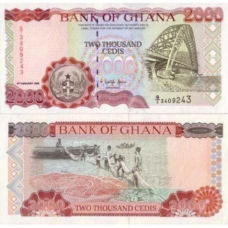 Billets de collection Billets collection Ghana Pk N° 30 - 2000 Cedis Billets du Ghana 11,00 €