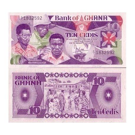 Billets de collection Billet de collection Ghana Pk N° 23 - 10 Cedis Billets du Ghana 11,00 €