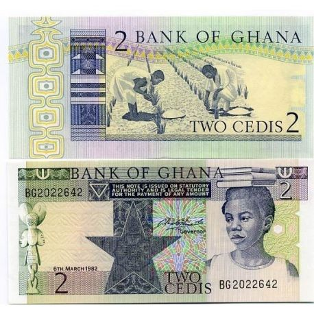 Billet de collection Ghana Pk N° 18 - 2 Cedis