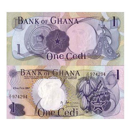 Billets de banque Ghana Pk N° 10 - 1 Cedi