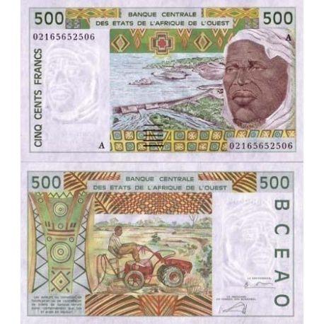 Billets de collection Billets banque Afrique De L'ouest Cote D'ivoire Pk N° 110 - 500 Francs Billets de Cote D'ivoire 10,00 €