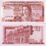 Los billetes de banco Gibraltar Pick número 20 - 1 Livre 1975