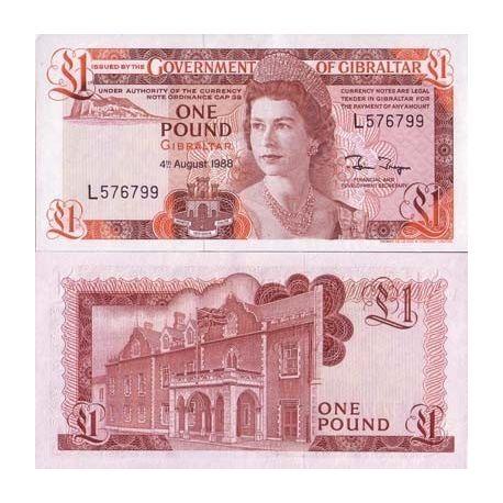 Gibraltar - Pk Nr. 20-1-Pfund-banknote