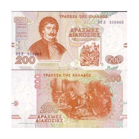 Billets de banque Grece Pk N° 204 - 200 Drachmai