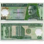 Precioso de billetes Guatemala Pick número 115 - 1 Quetzal