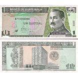 Los billetes de banco Guatemala Pick número 99 - 1 Quetzal 1998