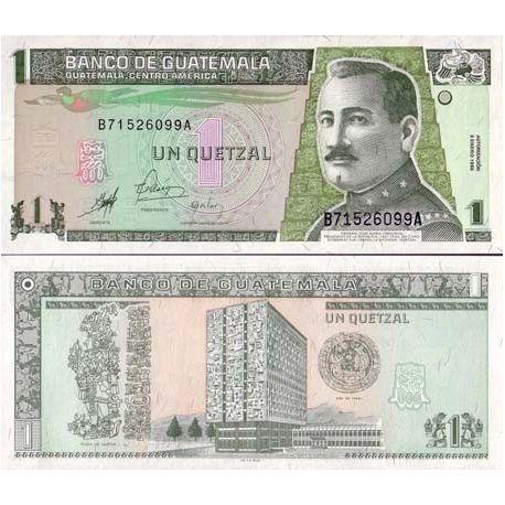 Billets banque GUATEMALA Pk N° 99 - 1 Quetzal