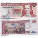 Colección de billetes Guatemala Pick número 111 - 10 Quetzal 2006
