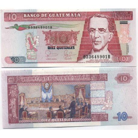 Billet de collection Guatemala Pk N° 111 - 10 Quetzal