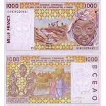 Schone Banknote Mali Pick Nummer 411 - 1000 FRANC 1991