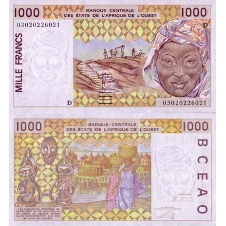 Afrique De L'ouest Mali - Pk N° 411 - Billet de 1000 Francs