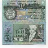 Los billetes de banco Guernsey Pick número 52 - 1 Livre 1991