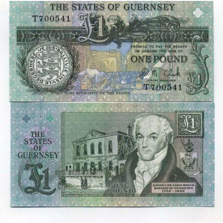 Guernesey - Pk N° 52 - Billet de 1 Pound